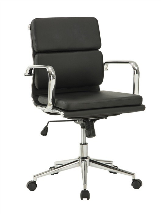 Office Armchair COPENHAGEN, Rotatable, Gas, Tilt, Similpiel Black