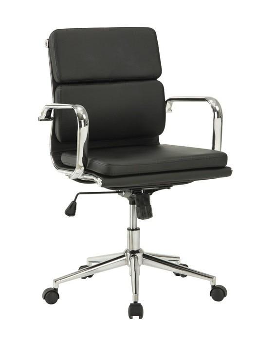 Office Armchair COPENHAGEN, Rotatable, Gas, Tilt, Similpiel Black