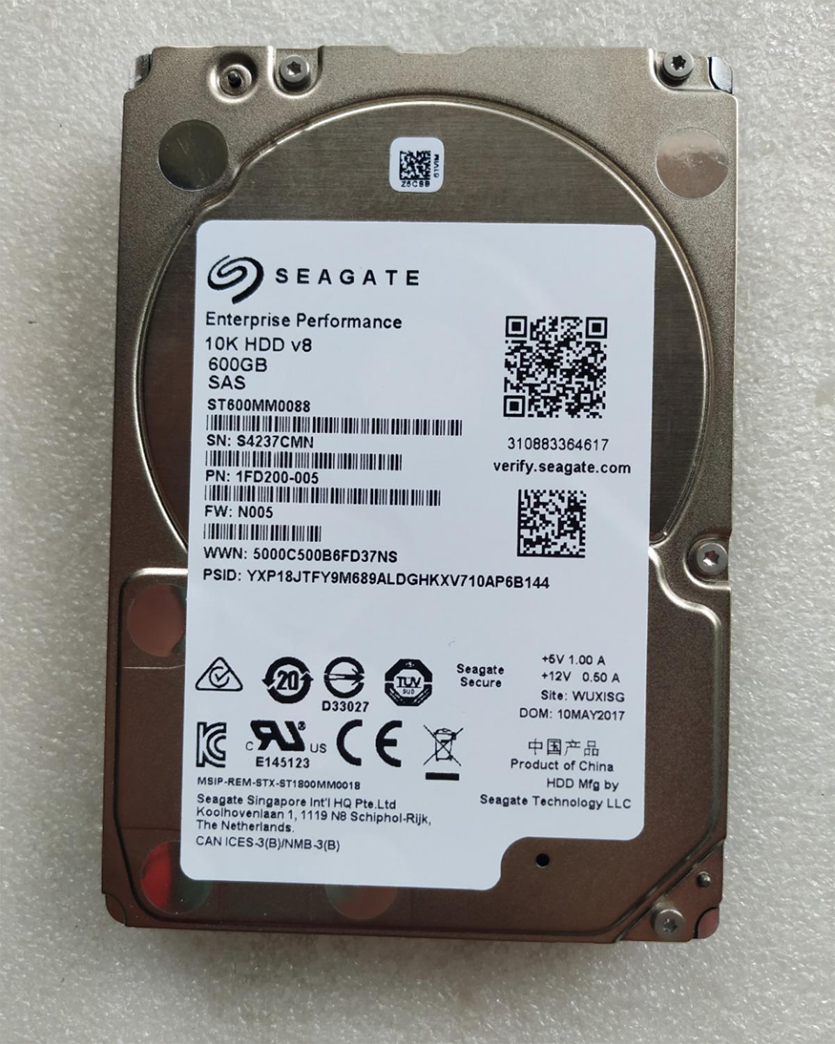 Refurbished New  ST600MM0088 Seagate 600GB 10K 2.5 SAS 12Gb HDD ST600MM0088 Server Hard Drive