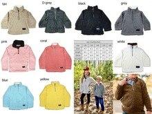 Crianças sherpa pullovers meninos e meninas jaquetas outono inverno para crianças casacos