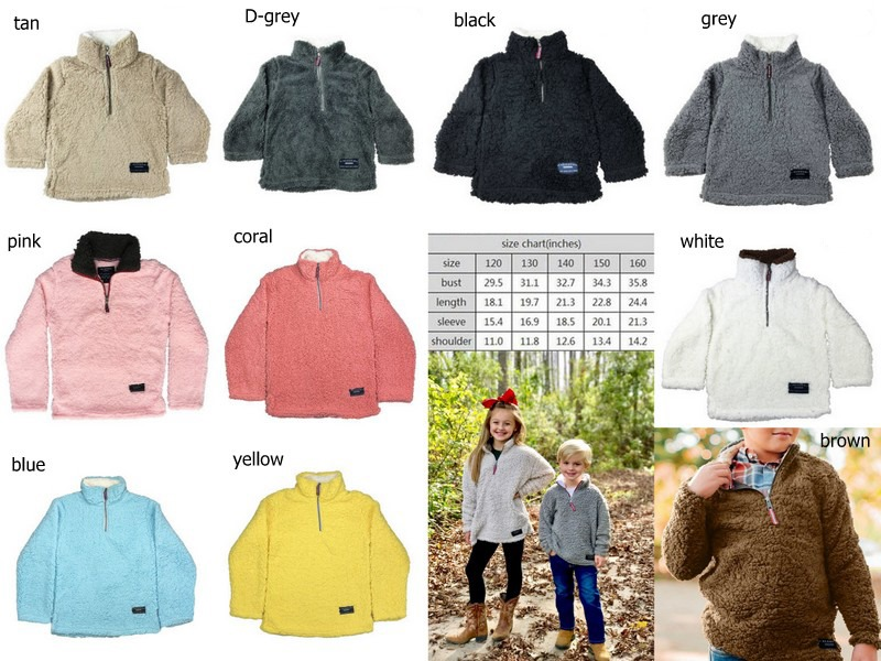 kids sherpa pullovers boys&girls jackets fall winter childrens coats-in Jackets & Coats from Mother & Kids