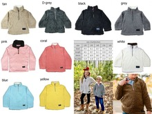 kids sherpa pullovers boys&girls jackets fall winter childrens coats