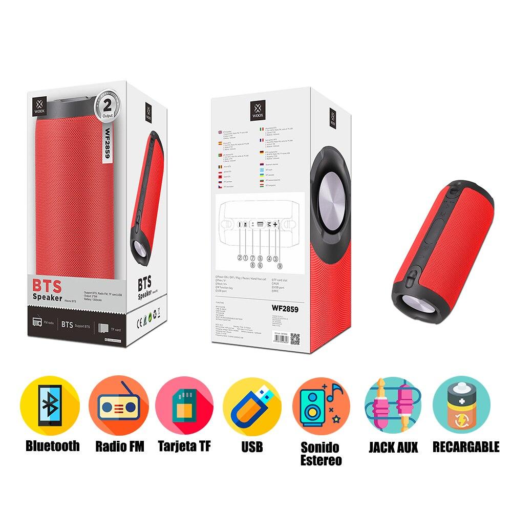 Портативный беспроводной Bluetooth динамик с fm-радио tf-картой 10 Вт BTS стерео звук Мобильный планшет Android iOS