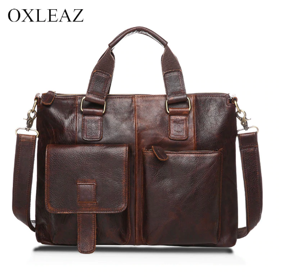 Men 'S Briefcase Genuine Leather Oxleaz 14 Inch OX260-1