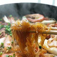 #太太乐鲜鸡汁芝麻香油#大虾培根粉丝煲的做法图解17