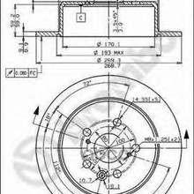 Диск Тормозной Задний Brembo арт. 08.5625.40