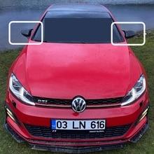 Зеркальный чехол для Golf 7 Bat, аксессуары для зеркала VW Golf 7 MK7 2012 2013 2014 2015 2016 2017 2018 2019, зеркало заднего вида