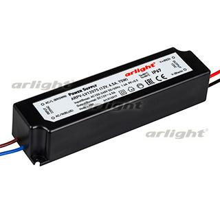 012017 Power Supply ARPV-LV12075 (12 V, 6.3A, 75 W) [IP67 Plastic 2] Box-1 Pcs ARLIGHT-Блок Power Supply/AC/DC Source ^ 21