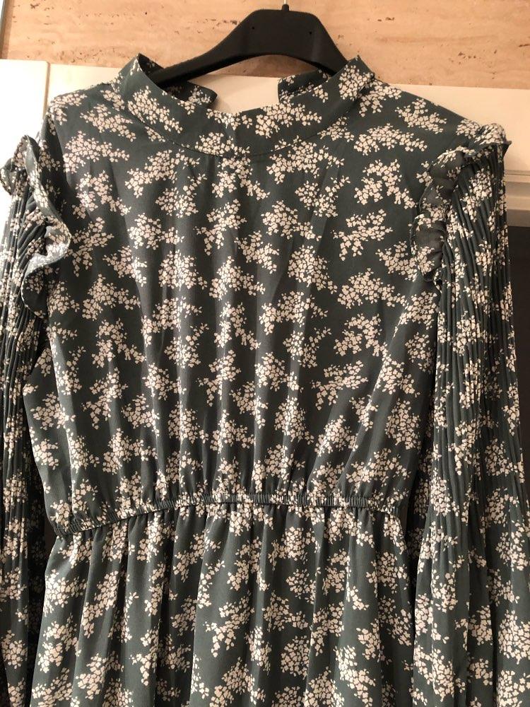 BGTEEVER Elegant Stand Collar Ruffles Women Dress Full Sleeve Elastic Waist Female Chiffon Dress 2020 Spring Midi Vestidos femme|Dresses|   - AliExpress