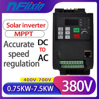0.75KW/1.5KW/2.2KW/4KW/5.5KW 380V VFD solar dc to ac Variable Frequency Drive Inverter for Motor Speed Control Converter