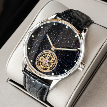 Sugess Tourbillon Master Mens Watch 2020 Blue GoldStone Limited Edition Luxury Business Watches Father Gift Seagull Movement 1