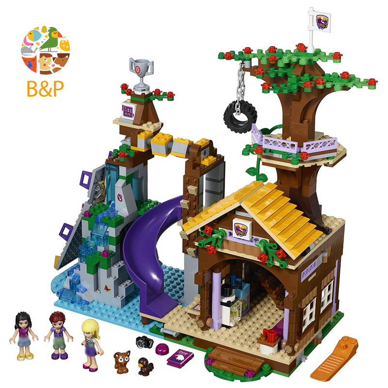 Adventure Camp Tree House 739 Pcs Mini Bricks 41122 Girls Friends Series Set s Toy For Children <font><b>10497</b></font> Building Block Gift image