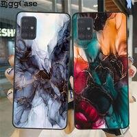 Piedra de mármol textura negro cubierta para Samsung A10 A20 A30 A40 A50 A51 A70 A71 A750 S8 S9 S10 más S10E S20 Plus Ultra TPU caso