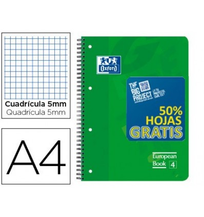 NOTEPAD SPIRAL OXFORD LID PLASTIC OPTIK PAPER MICROPERFDIN A4 120 H 50% SHEETS SHIPPING PICTURES 5 MM WITH 3 STRIPPERS