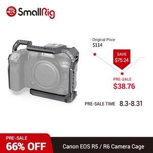 SmallRig DSLR Camera Cage for Canon EOS R5 and R6 With Cold Shoe & NATO Rail 1/4'' Arri Hole Camera Rig Video Rig 2982(China)