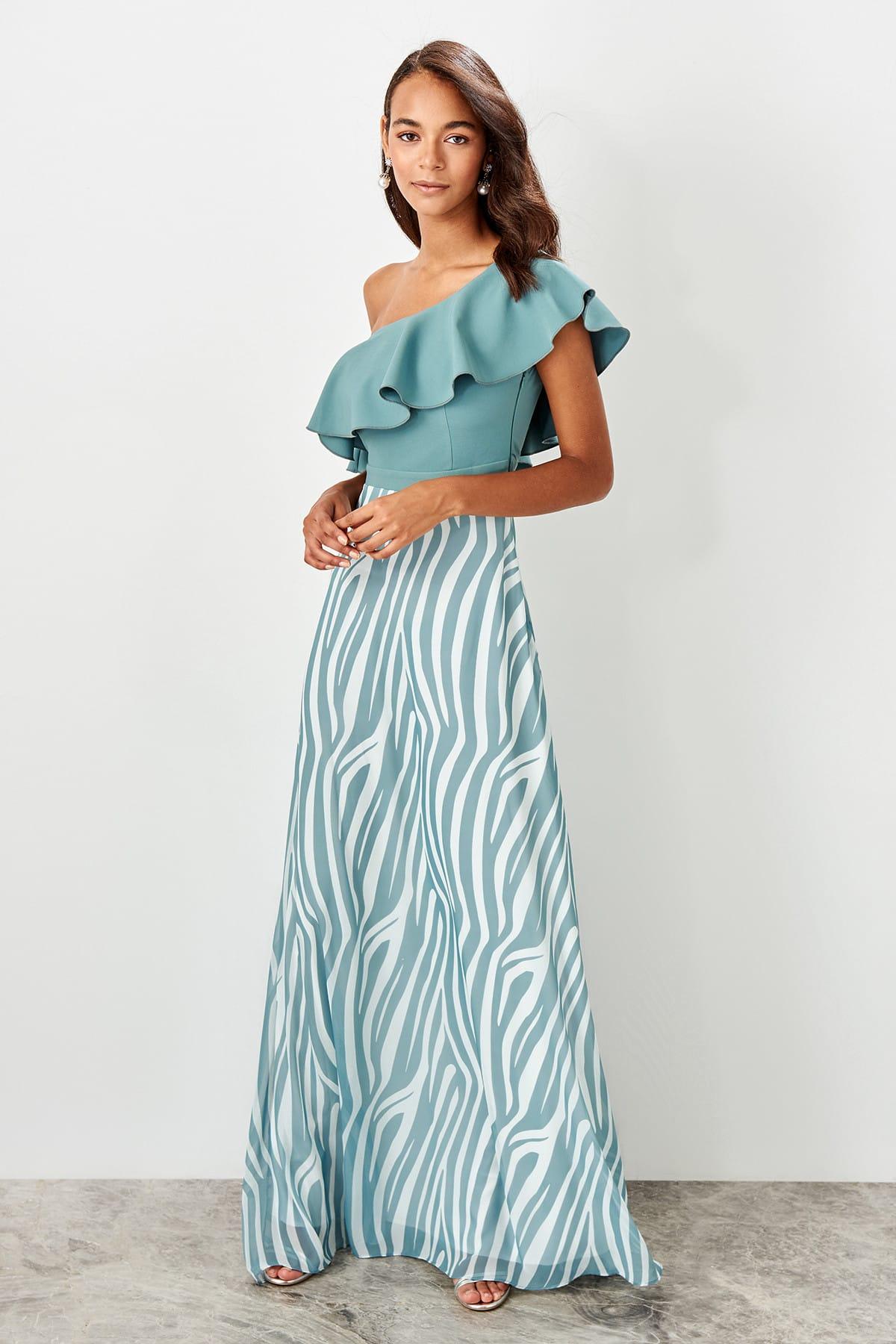 Trendyol One Shoulder Evening Dress TPRSS19BB0510