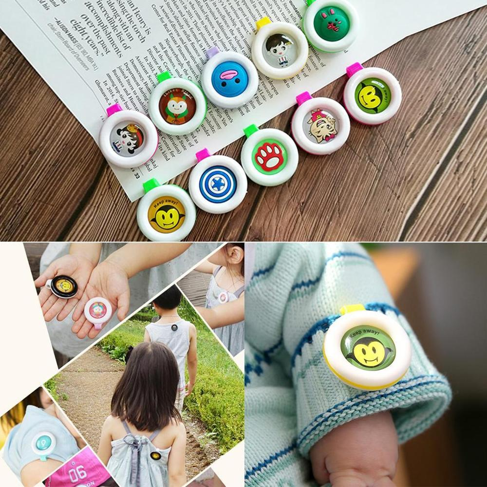 Anti Mosquito Insect Repellent Mosquito Killer Button Cartoon For Pregnant Woman Baby Multicolor Random Hot Sale Children Gift