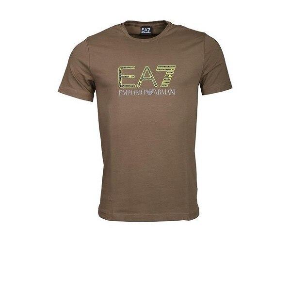 Men's Short Sleeve T-Shirt Armani Jeans 3GPT18 Green