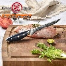 Damascus Dao Nhà Bếp Boning Dao Nhật Bản Damascus VG10 Dao Nhà Bếp Filleting Cắt Lát Dụng Cụ Nấu Ăn Bộ Ăn Thịt Dao Xanh Dương Mới