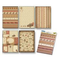 260406 vintage A4 rice paper, self adhesive, pack/5 sheets, Folia