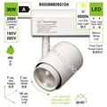 مصباح LED من فوكو دي كارل ، لون أبيض 36 وات 4000K luz de dia