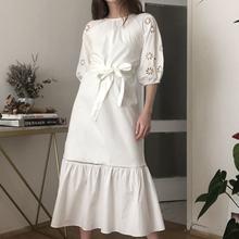 Trendyol Belted Sleeve Detail Dress TWOSS20EL2982