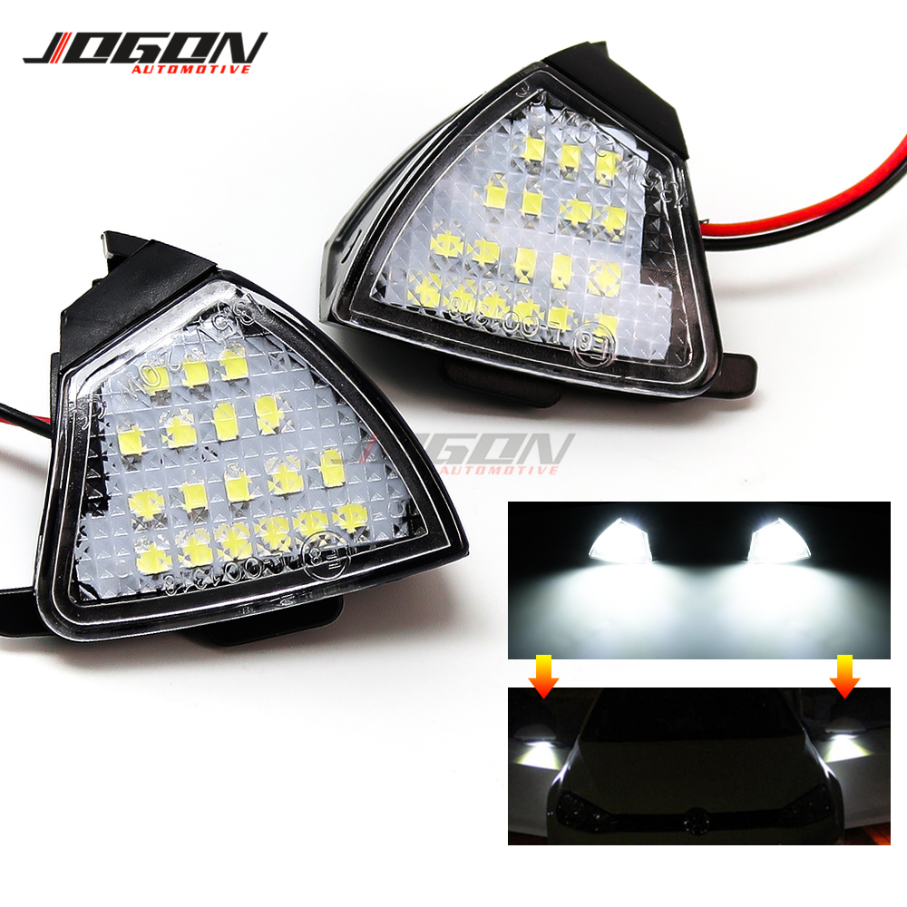 <font><b>LED</b></font> Side Wing Mirror Puddle Light Welcome Courtesy Lamp <font><b>Trim</b></font> Bulb For Volkswagen VW <font><b>GOLF</b></font> 5 Plus GTI Jetta MK5 Passat B5.5 B6 EOS image