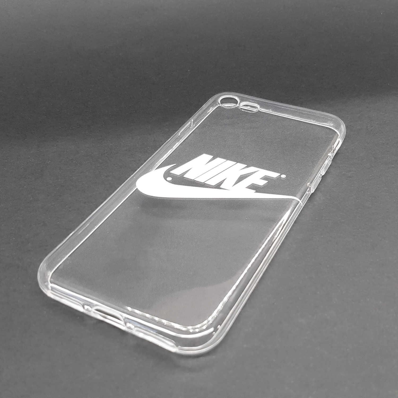 Housse movil coque gel personnalisé compatible Nike blanc fond ...