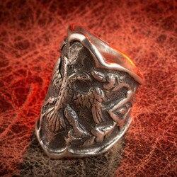 Кольцо Dirilis Ertugrul, 925 пробы, серебряное, оттоманское кольцо, мужское кольцо, кольца для мужчин, кольцо Kayi IYI Ottoman Ressurection Ertugrul, ювелирные изделия