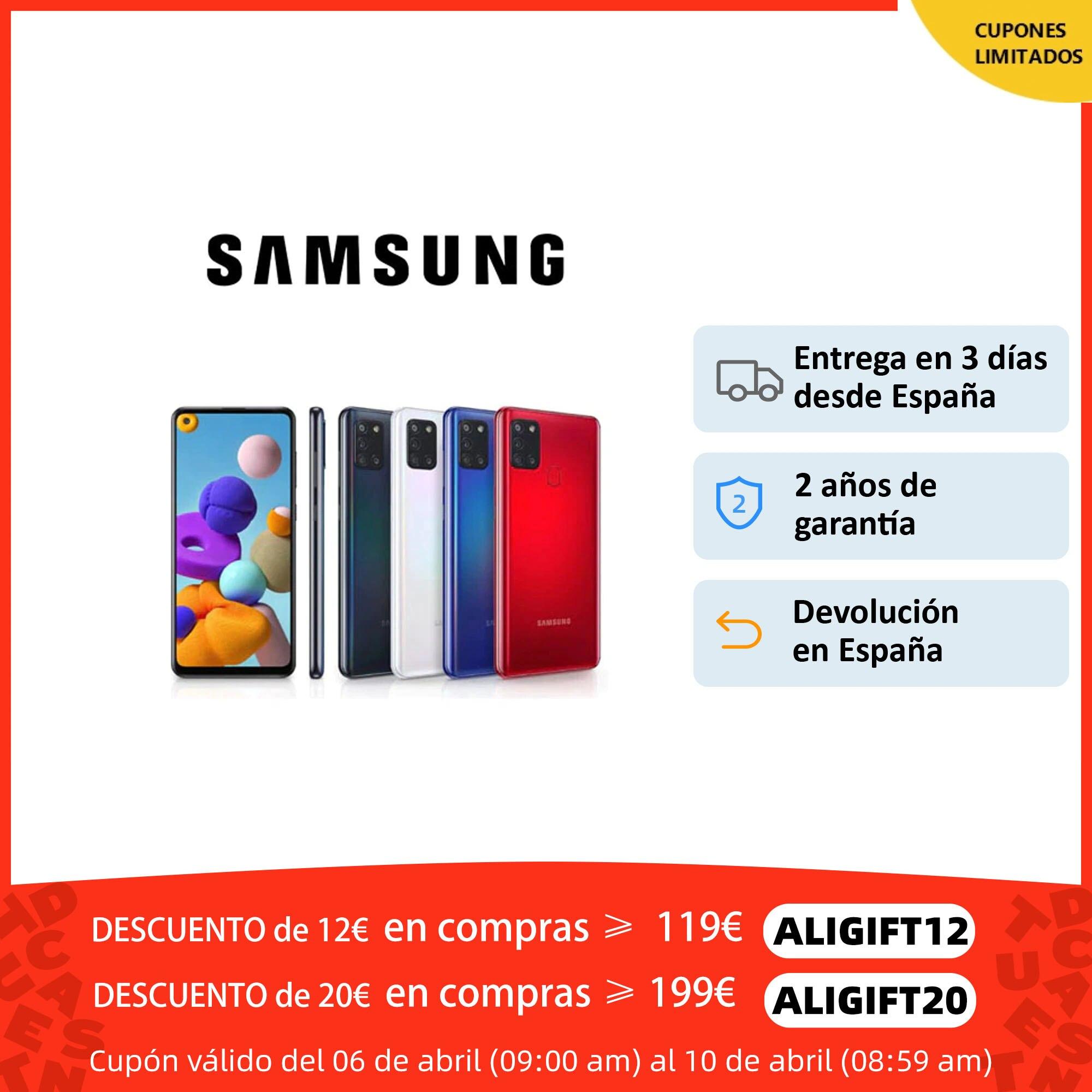 Samsung Galaxy A21s, teléfono móvil original, Smartphone 3GB+32/64GB, 4 cámaras, 48MP, carga rápida 15W, reconocimiento facial Teléfonos móviles  - AliExpress