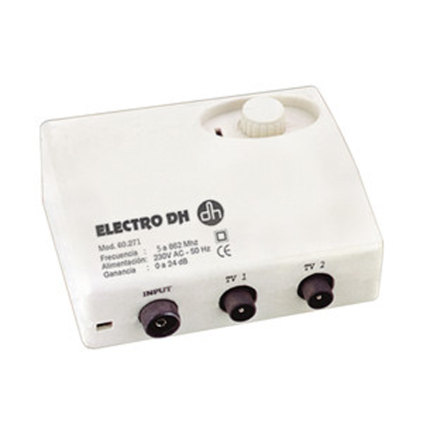 Amplificador De Antena Electro DH, For FREEVIEW, Bass Ratio Noise Level, Gain Adjustment From 0 To 24 DB, With Switch, 60.2