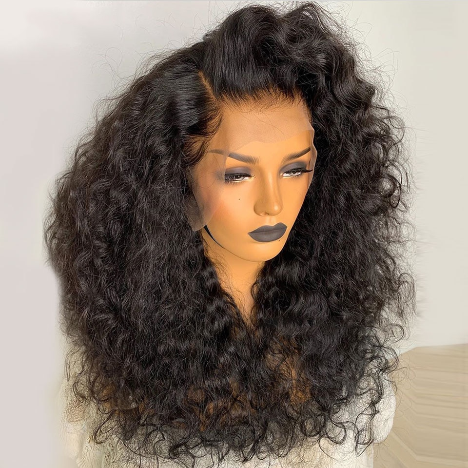 13*4  Short Bob Curly Lace Front Human Hair Wigs For Black Women  Brazilian Remy 13x6 Lace Wig With Baby Hair Glueless Plucked