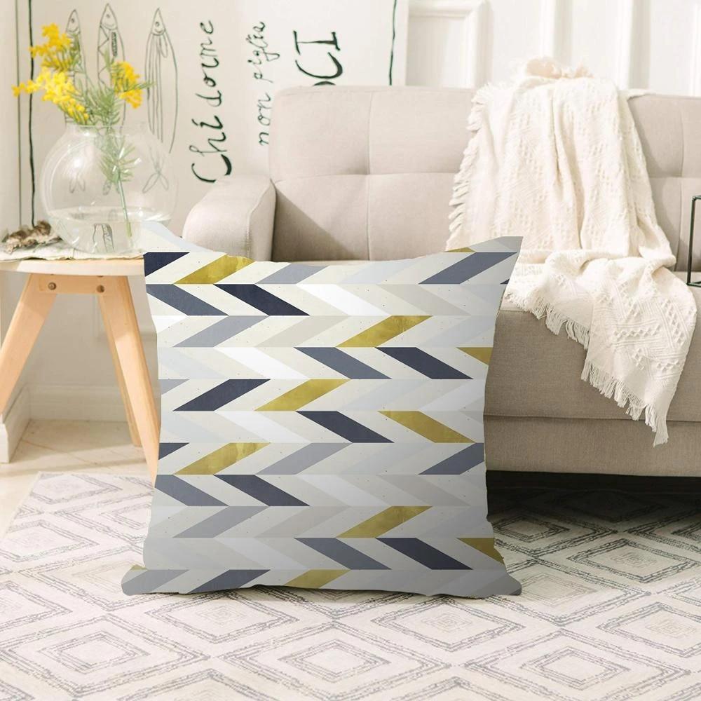 else gray yellow white lines nordic scandinavian 3d print sofa large pillow case floor cushion covers hidden zipper 70x70cm