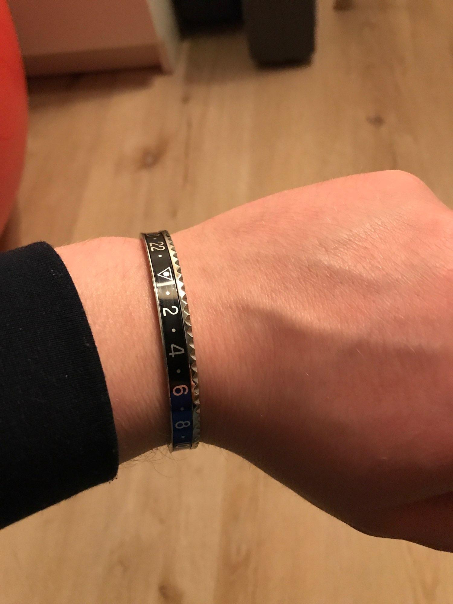Bracelet en acier inoxydable pour hommes et femmes style Rolex