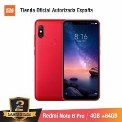 [Wersja globalna dla hiszpanii] Xiaomi Redmi Note 6 Pro (pamięci wewnętrzne de 64 GB, pamięci RAM de 4 GB, Cuatro camaras con IA) Smartphone 4