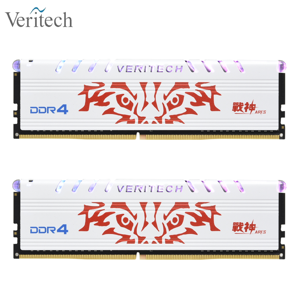 Veritech ARES series <font><b>DDR4</b></font> 8GB <font><b>16GB</b></font> 2666mhz 3000mhz 3200mhz 3600MHz RGB RAM for gaming desktop dimm with high performance memoria image