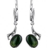 Esthete earrings with silver Jade