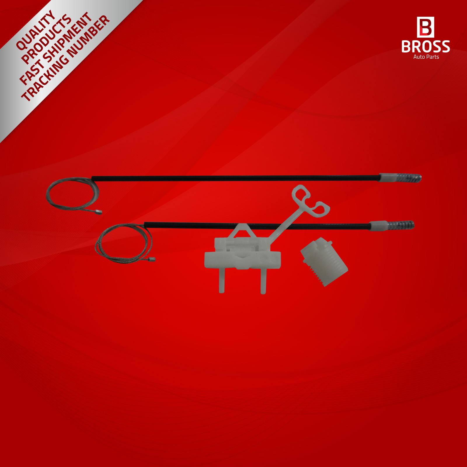 BWR5182 lève-vitre manuel 51723323 kit de réparation arrière droit pour Punto 199