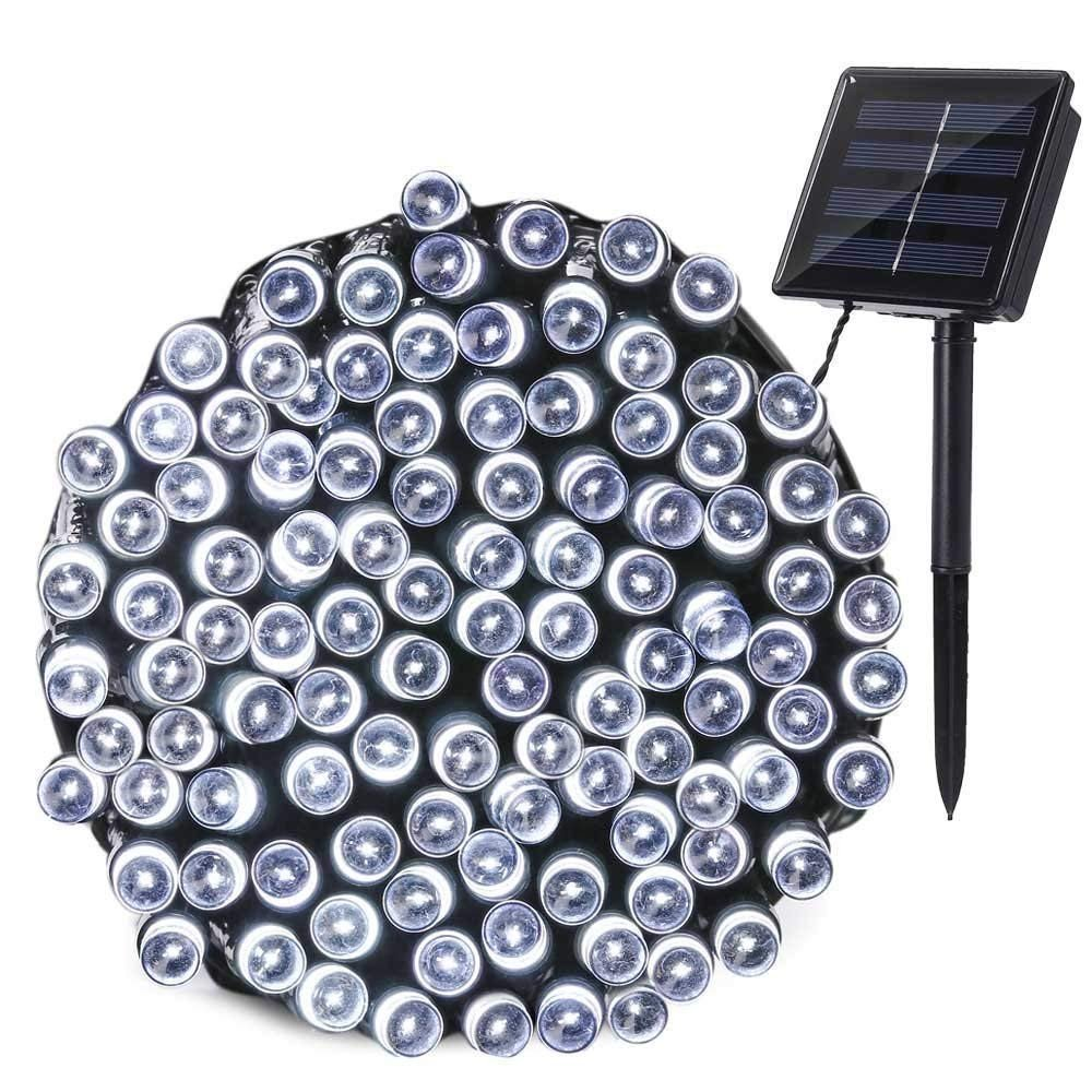 New Luces LED Ropelight With Solar Chargeur 12m Warm White/RGB