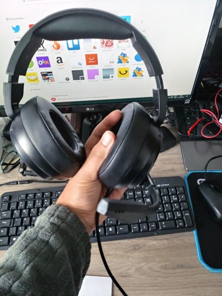 Fones de ouvido Microfone Nintendo Interruptor