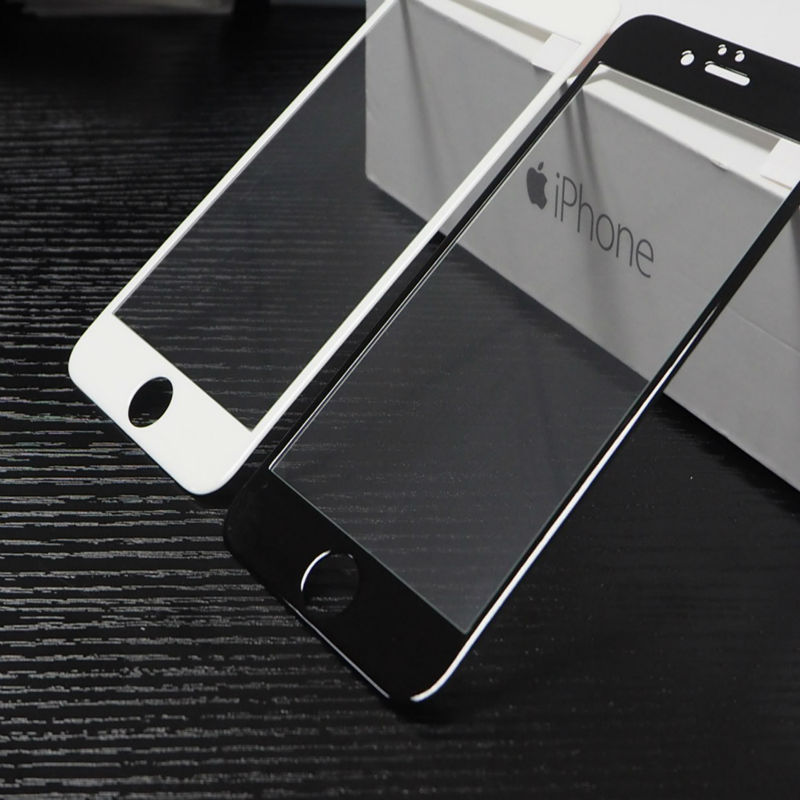 Protective 10D glass for iPhone 6 white Unicorn,full cover, screen protector, tempered glass for iPhone 6. image
