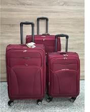 Juego de 3 maletas elegantes, 4 ruedas giratorias, Expandible Equipaje de viaje poliéster Maleta 20