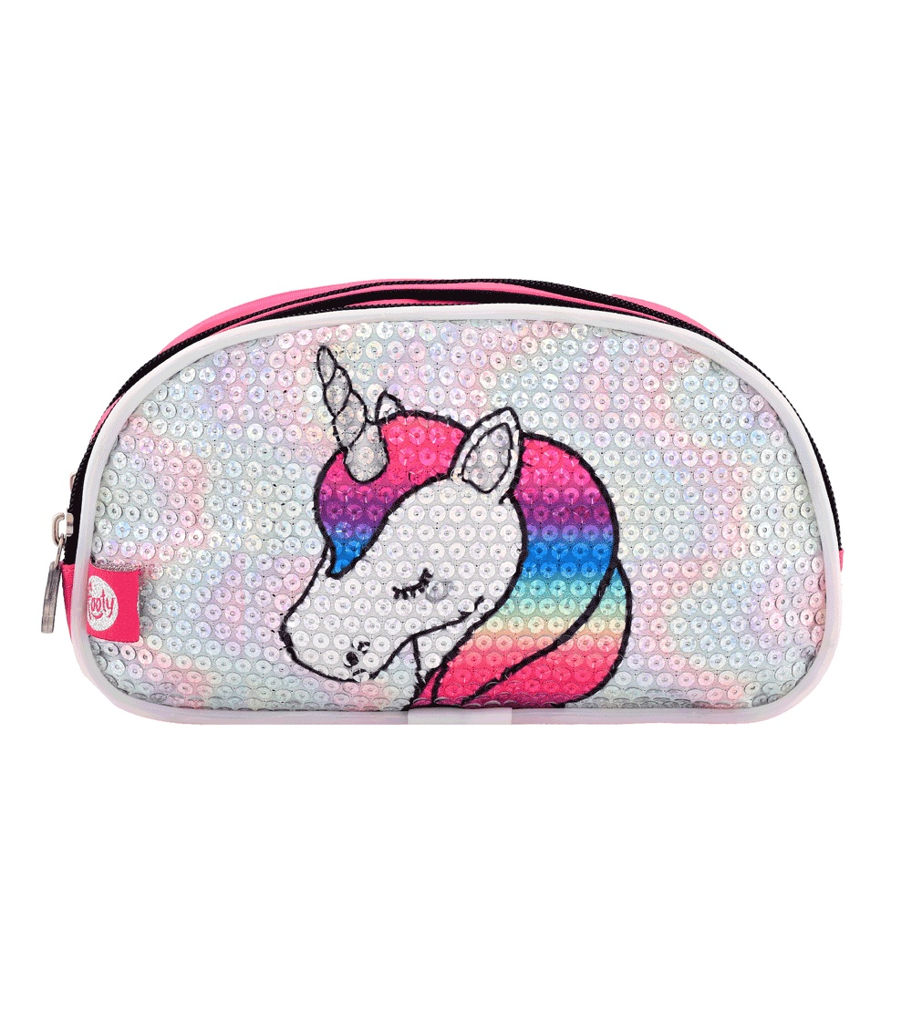 FOOTY Unicorn Case Pink Double With LED Light AND Sequins