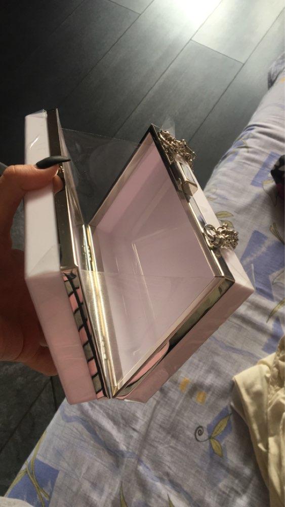 2021 New Fashion White Acrylic Women Wallet Clutch Purses Box Woman Messenger Bags Wedding Party Evening Chain Clutches Handbag photo review