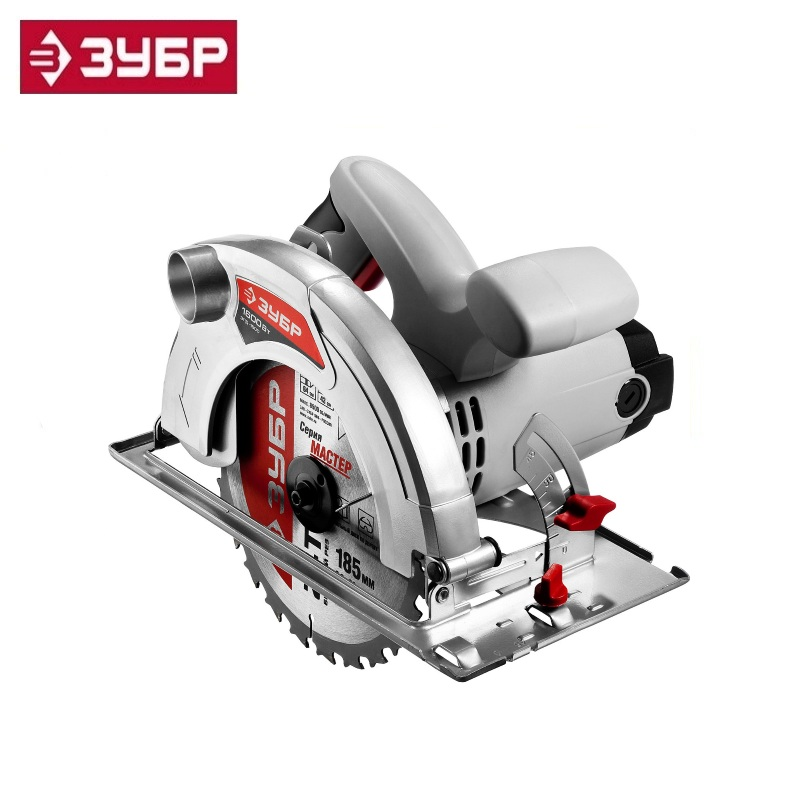 Saw disc 90 ° -64 mm, the disc of 185 mm, 1600 W, ZUBR Miter saw The Gig saw Carpentry tools for working with wood Longitudinal riveter zubr 31287 64