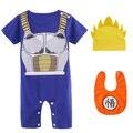 Комбинезон для маленьких мальчиков, одежда для новорожденных DBZ, Мультяшные наряды, Детский комбинезон для косплея из аниме, хлопковый кост...
