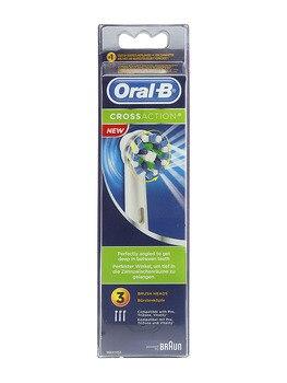 Recambio de cepillo eléctrico oral b crossaction  3 unidades Llegan a las zonas de difícil acceso