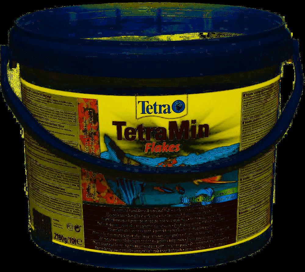TetraMin корм для всех видов рыб в виде хлопьев 10 л (ведро)