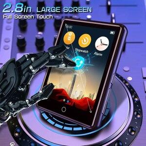 """Image 3 - Lecteur MP3 Bluetooth 2.8 """"plein écran tactile Portable 32GB intégré grande mémoire HiFi lecteur de musique FM Radio podomètre vidéo Playe"""