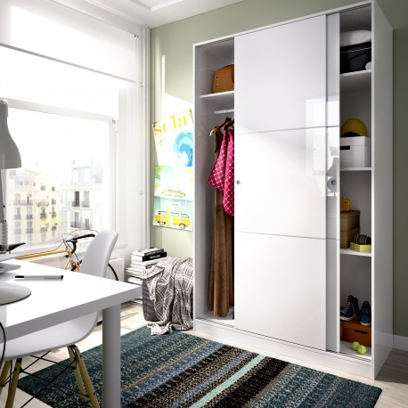 Wardrobe Wardrobe Sliding Doors Plus Slide 120 Cm Wide